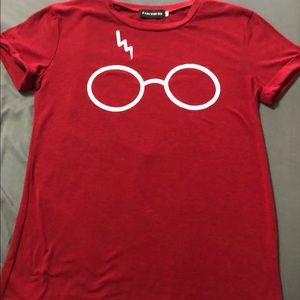 Red Harry Potter Themed Shirt